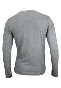Szary T-shirt (Koszulka) - Długi Rękaw, Longsleeve - 90% BAWEŁNA - Brave Soul, Męski. Okazja: na co dzień. Kolor: szary. Materiał: bawełna, wiskoza. Długość rękawa: długi rękaw. Długość: długie. Styl: casual
