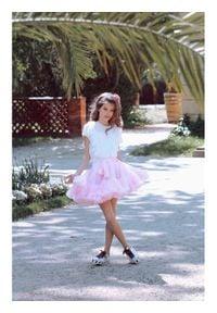 LaVashka Spódnica 4-B Różowy Regular Fit. Kolor: różowy