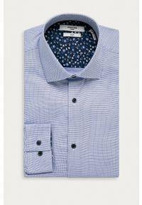 Premium by Jack&Jones - Koszula bawełniana. Okazja: na co dzień. Typ kołnierza: kołnierzyk włoski. Kolor: fioletowy. Materiał: bawełna. Styl: casual