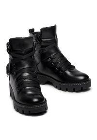 Czarne buty trekkingowe Sergio Bardi z aplikacjami, z cholewką