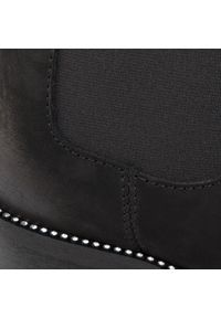 R.Polański - Sztyblety R.POLAŃSKI - 0952 Czarny Nubuk. Kolor: czarny. Materiał: nubuk, skóra. Szerokość cholewki: normalna. Wzór: aplikacja. Obcas: na obcasie. Wysokość obcasa: średni