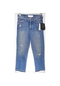 Niebieskie spodnie Mother z podwyższonym stanem