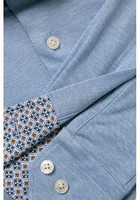 Niebieska koszula Emanuel Berg na co dzień, długa