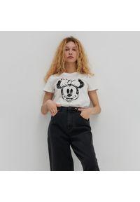 House - Koszulka z nadrukiem Minnie Mouse - Kremowy. Kolor: kremowy. Wzór: motyw z bajki, nadruk