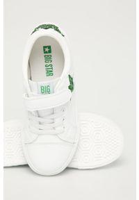 Białe buty sportowe Big-Star na rzepy, z cholewką, z okrągłym noskiem