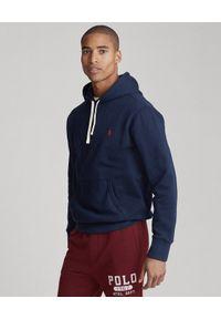 Ralph Lauren - RALPH LAUREN - Granatowa bluza z kapturem. Typ kołnierza: kaptur. Kolor: niebieski. Materiał: bawełna, polar, jeans. Długość rękawa: długi rękaw. Długość: długie. Wzór: haft