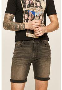 Lee - Szorty jeansowe. Kolor: szary. Materiał: jeans