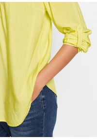 Żółta tunika bonprix długa, z długim rękawem, z dekoltem w serek #7