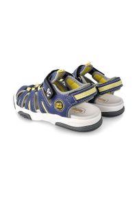 Niebieskie sandały Garvalin gładkie, na rzepy