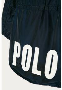Niebieska kurtka Polo Ralph Lauren gładkie, na co dzień, casualowa