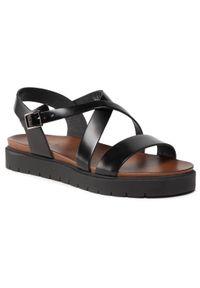 Czarne sandały Wojas