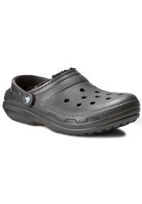 Czarne klapki Crocs casualowe, na co dzień