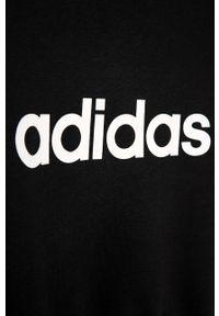 Czarna bluza Adidas na co dzień, z nadrukiem