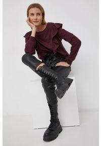 only - Only - Spodnie. Stan: podwyższony. Kolor: czarny