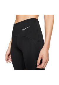 Legginsy damskie do biegania Nike 7/8 Icon Clash CJ1932. Materiał: nylon, elastan, poliester, materiał, skóra. Technologia: Dri-Fit (Nike). Sport: fitness