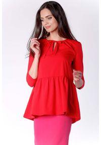 Czerwona bluzka z długim rękawem Nommo