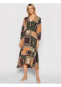 Marella Sukienka codzienna Scozia 32262318 Kolorowy Relaxed Fit. Okazja: na co dzień. Wzór: kolorowy. Typ sukienki: proste. Styl: casual