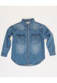 ONETEASPOON KIDS - Jeansowa koszula Ranch 5-12 lat. Okazja: na co dzień. Kolor: niebieski. Materiał: jeans. Sezon: lato. Styl: retro, klasyczny, casual, młodzieżowy
