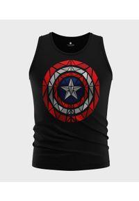 MegaKoszulki - Koszulka męska bez rękawów Shield. Materiał: bawełna. Długość rękawa: bez rękawów