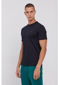 Emporio Armani - T-shirt bawełniany (2-pack). Okazja: na co dzień. Kolor: niebieski. Materiał: bawełna. Wzór: nadruk. Styl: casual