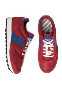 Czerwone buty sportowe Saucony na co dzień, z cholewką