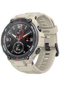 Brązowy zegarek Xiaomi militarny, smartwatch