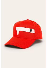Pomarańczowa czapka z daszkiem G-Star RAW z aplikacjami