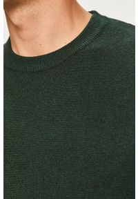 Zielony sweter Only & Sons casualowy, z okrągłym kołnierzem, długi