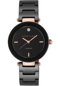 Czarny zegarek Anne Klein