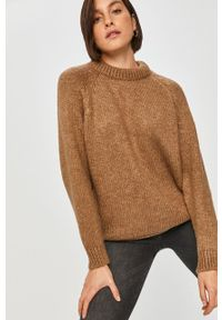 Beżowy sweter Answear Lab na co dzień, długi