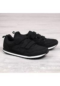 Czarne buty sportowe American Club na rzepy
