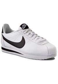 Białe buty sportowe Nike na co dzień, Nike Cortez, z cholewką