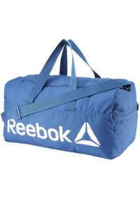 Niebieska torba sportowa Reebok w kolorowe wzory, na fitness i siłownię #1