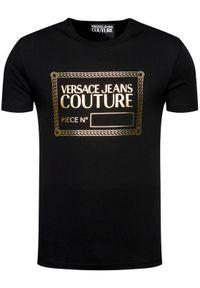 Versace Jeans Couture T-Shirt 71GAHT27 Czarny Regular Fit. Kolor: czarny