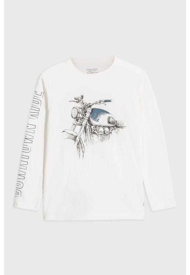 Biała koszulka z długim rękawem Mayoral na co dzień, casualowa