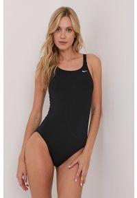 Nike - Strój kąpielowy. Kolor: czarny. Materiał: tkanina, dzianina