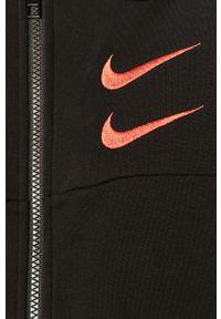 Czarna bluza rozpinana Nike Sportswear casualowa, z aplikacjami #5