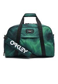 Zielona torba sportowa Oakley z nadrukiem
