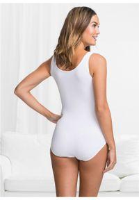 Body bez fiszbinów, bawełna organiczna bonprix Body bez fiszbinów biały. Kolor: biały. Materiał: bawełna. Wzór: gładki