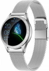 Srebrny zegarek oromed smartwatch