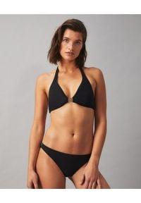 Tory Burch - TORY BURCH - Czarny top od bikini Miller. Kolor: czarny. Materiał: lycra, materiał