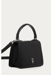 Czarna listonoszka Karl Lagerfeld na ramię, mała, klasyczna