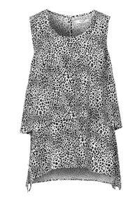 Cellbes Dwuwarstwowa bluzka w panterkę w cętki we wzory female ze wzorem 58/60. Materiał: materiał. Długość rękawa: bez rękawów. Długość: krótkie. Wzór: motyw zwierzęcy