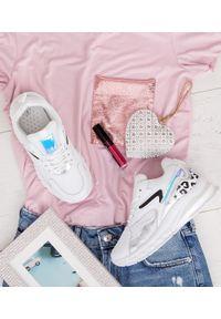 Srebrne buty sportowe FOREVERFOLIE na co dzień, w kolorowe wzory