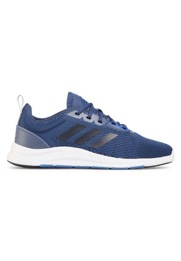 Niebieskie buty treningowe Adidas z cholewką