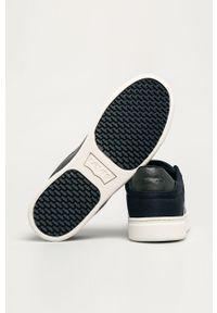 Niebieskie sneakersy Levi's® z okrągłym noskiem, z cholewką, na sznurówki