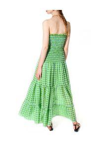 AGGI - Sukienka maxi w kratę Maya Tender Shoots. Kolor: zielony. Materiał: tkanina. Długość: maxi