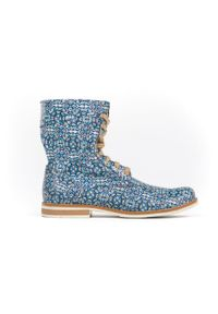 Botki Zapato wąskie, sportowe, na spacer, w kolorowe wzory