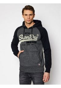 Superdry Bluza Vl Duo Reglan Hood M2011143A Szary Regular Fit. Kolor: szary
