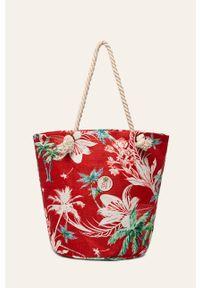 Czerwona torba plażowa Femi Stories na ramię, duża